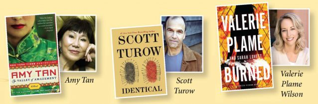 Don't miss Amy Tan, Scott Turow, and Valerie Plame.