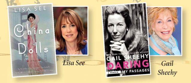 Don't miss Lisa See and Gail Sheehy.