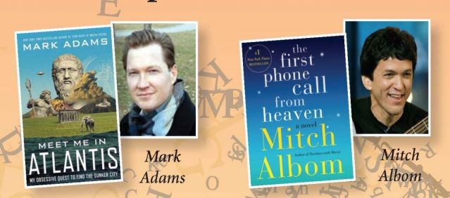 Don't miss Mark Adams and Mitch Albom.
